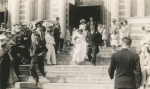 Thomas P. O'Neill and Mildred Ann Miller's Wedding Day, June 17, 1941 St. John's Church, Cambridge Courtesy of Rosemary O'Neill