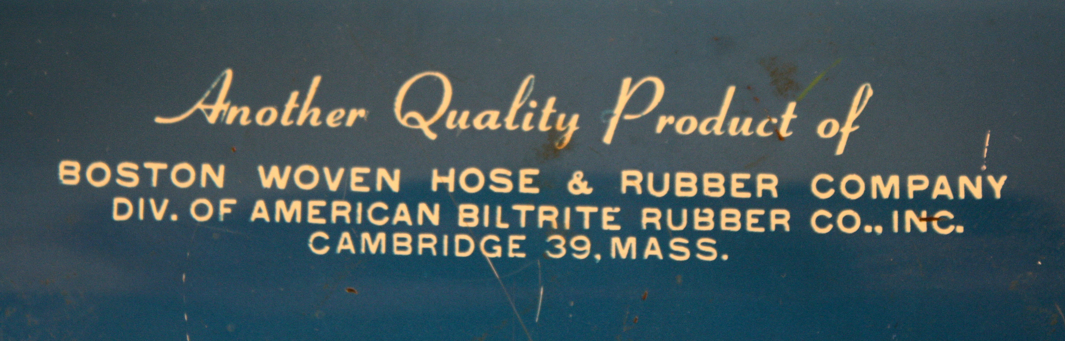 The company produced a cotton-jacketed rubber hose and it soon became the industry standard for manufacturing fire hoses. The Boston Bulldog was created as ... & BULL DOG FRICTION TAPE CONTAINER / ADVERTISING TIN | The Cambridge Room