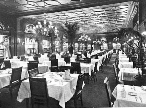 Young's Hotel Dining Room, 1910 via wikimedia.org